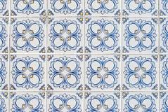 067 застеклили португальские плитки Стоковая Фотография