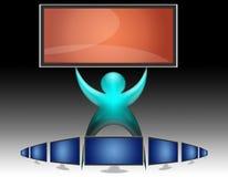 07平面的lcd屏幕电视 免版税库存照片