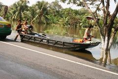 07泰国的洪水 免版税库存图片