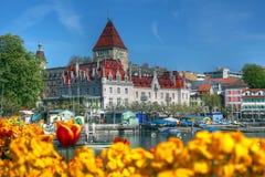 07 замок d lausanne ouchy Швейцария Стоковое Фото