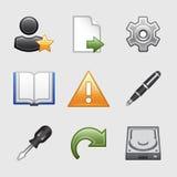 07 икон установили стилизованную сеть Стоковые Изображения