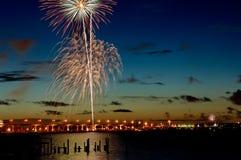 07-04-06 Stuart, Florida-Feuerwerke (4) Stockbild
