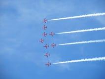 07 11 2010飞行表演种族希尔弗斯通跟踪 库存图片
