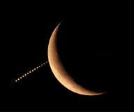 07 15 2012 που καλύπτουν τον πλανήτη φεγγαριών Δία Στοκ Φωτογραφίες