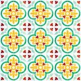 07 ceramicznych bezszwowych płytek Obrazy Royalty Free