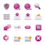 07 icone viola del Internet Fotografia Stock