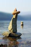 07 lake 8 skał Obrazy Royalty Free