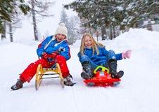 07 rodzin zabawy śnieg Fotografia Stock