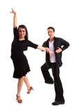 07 svarta dansare för balsal Arkivbilder