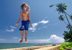 07 szczęśliwych dzieciaków Papua Obraz Stock