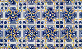 078 glasade portugisiska tegelplattor Royaltyfri Bild