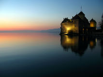 08座城堡chillon montreux瑞士 库存照片