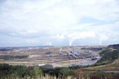 08褐色转换开放的煤矿开采 图库摄影