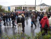 08 12 18 αγορευτές της Αθήνας Στοκ Φωτογραφίες