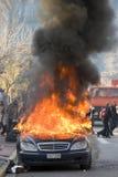 08 12 18 ταραχές της Αθήνας στοκ φωτογραφία με δικαίωμα ελεύθερης χρήσης
