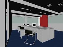 διάνυσμα 08 εσωτερικό δωματίων γραφείων Στοκ Εικόνες