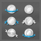 08 emblemsmedaljongserie Arkivfoto