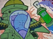 08 graffiti tło Zdjęcia Royalty Free