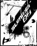 08 Grunge Summer. Vector Illustration Stock Photo