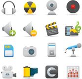 08 Multimedia Icons Stock Photography