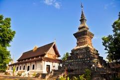 09个角度传统老挝人的寺庙 库存照片
