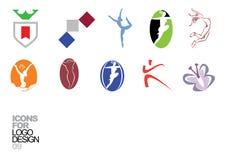 09个设计要素徽标向量 免版税图库摄影
