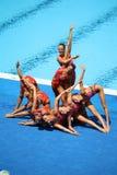 09意大利罗马游泳syncronised小组 库存图片