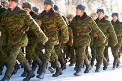 09.01.2009 La Russia, Ostrogozhsk, giuramento militare Fotografie Stock