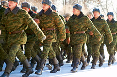 09.01.2009 Russia, Ostrogozhsk, military oath Stock Photos