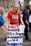 09 16 2010年反爱丁堡教皇拒付苏格兰 库存图片