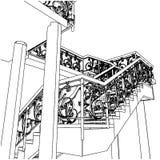 09螺旋形楼梯向量 免版税库存图片