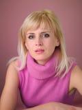 09 blondynek dziewczyna Zdjęcia Stock