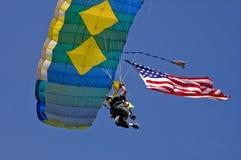 09 loggerrodeo参与者跳伞运动员 库存图片