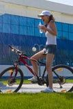 09 na rowerze Fotografia Royalty Free