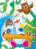 09 nya år royaltyfri illustrationer