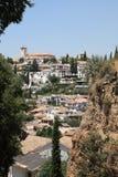 0ld格拉纳达,西班牙城镇  库存图片