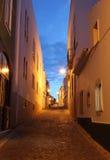0ld黄昏拉各斯葡萄牙城镇 免版税图库摄影