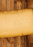 0ld paper background on wood board. 0ld paper background on wood vintage board Stock Images