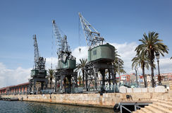 0ld port tarragona Royaltyfri Bild