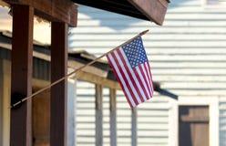 0n美国国旗门廊 免版税库存图片