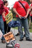 0n απεργία Στοκ φωτογραφίες με δικαίωμα ελεύθερης χρήσης