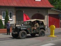 1ò Reunião militar em DarÅowo Foto de Stock Royalty Free