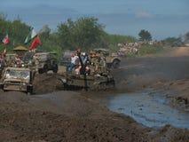 1ò Reunião militar em DarÅowo Foto de Stock