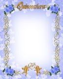 1ö Convite de Quinceanera do aniversário Fotos de Stock