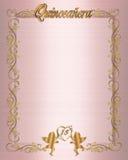 1ö Convite de Quinceanera do aniversário Fotografia de Stock