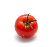 1个下落红色蕃茄 库存图片