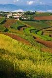 1个中国乡下村庄 免版税库存图片