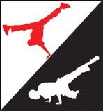 1个中断舞蹈演员 免版税图库摄影