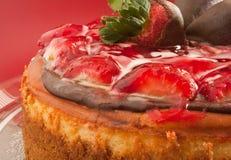 1个乳酪蛋糕釉草莓 免版税库存照片