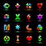 1个五颜六色的编辑可能的符号向量 免版税库存图片